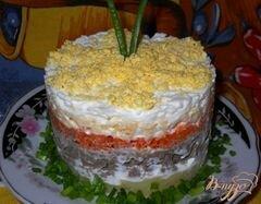 """«Салат слоеный """"Печень под шубой""""» - приготовления блюда - шаг 10"""