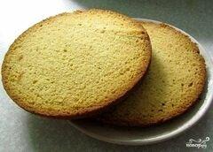 «Торт творожный с персиками» - приготовления блюда - шаг 3