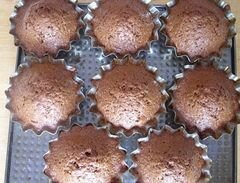 «Шоколадно-банановые кексы, или спасение залежавшихся бананов» - приготовления блюда - шаг 7