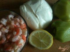 «Салат с моцареллой, киви и креветками» - приготовления блюда - шаг 1