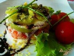«Салат с моцареллой, киви и креветками» - приготовления блюда - шаг 6