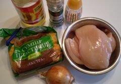 «Куриные котлеты с хлопьями» - приготовления блюда - шаг 1