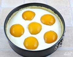 «Творожный пирог с персиками» - приготовления блюда - шаг 7
