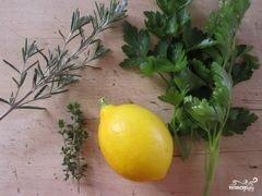 «Брускетта с зеленью и козьим сыром» - приготовления блюда - шаг 1