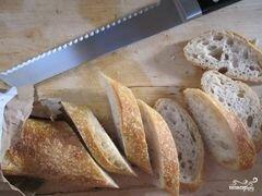 «Брускетта с зеленью и козьим сыром» - приготовления блюда - шаг 3