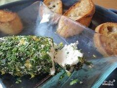 «Брускетта с зеленью и козьим сыром» - приготовления блюда - шаг 4