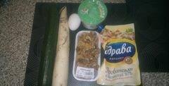 «Салат из редьки дайкон, свежего огурца и грецких орехов» - приготовления блюда - шаг 1