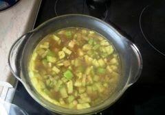 «Легкий суп-пюре из кабачков» - приготовления блюда - шаг 5