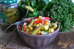 «Картофельный салат с корнишонами» - приготовления блюда - шаг 5