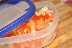 «Перец замороженный» - приготовления блюда - шаг 3