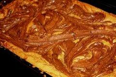 «Пирожные блонди с нутеллой» - приготовления блюда - шаг 7