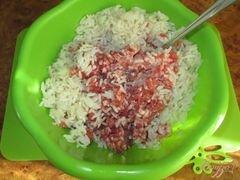 «Ежики со свежей зеленью в томатном соусе» - приготовления блюда - шаг 1