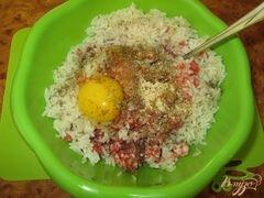 «Ежики со свежей зеленью в томатном соусе» - приготовления блюда - шаг 2
