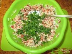 «Ежики со свежей зеленью в томатном соусе» - приготовления блюда - шаг 3