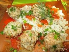 «Ежики со свежей зеленью в томатном соусе» - приготовления блюда - шаг 8