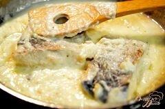 «Лосось в белом соусе» - приготовления блюда - шаг 2