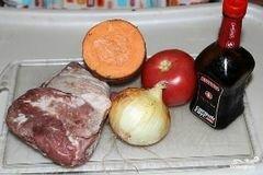 «Свинина с овощами в мультиварке» - приготовления блюда - шаг 1