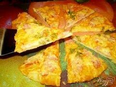 «Пицца с колбасой и сыром» - приготовления блюда - шаг 7