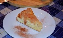 «Нежная Шарлотка на бисквите» - приготовления блюда - шаг 7