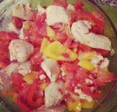 «Курица, запечёная с овощами» - приготовления блюда - шаг 9