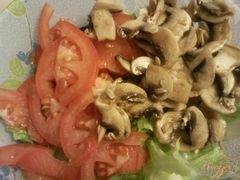 «Овощной салат с грибами» - приготовления блюда - шаг 3