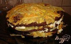 «Печеночный торт (печень куриная)» - приготовления блюда - шаг 6