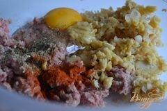 «Грибной суп с фрикадельками из мяса и гороха нут» - приготовления блюда - шаг 3