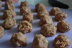 «Грибной суп с фрикадельками из мяса и гороха нут» - приготовления блюда - шаг 4