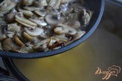 «Грибной суп с фрикадельками из мяса и гороха нут» - приготовления блюда - шаг 6