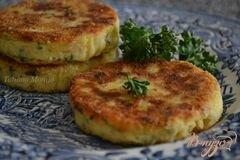 «Картофельные биточки с куриным мясом» - приготовления блюда - шаг 6