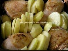 «Курица с картофелем в сливочно-горчичном соусе» - приготовления блюда - шаг 2