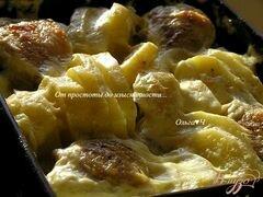 «Курица с картофелем в сливочно-горчичном соусе» - приготовления блюда - шаг 4