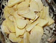 «Картофель маринованный, запеченный с луком» - приготовления блюда - шаг 3