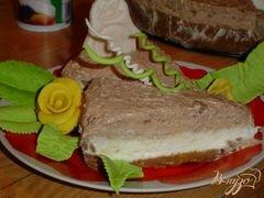 «Двухцветный творожный торт» - приготовления блюда - шаг 6