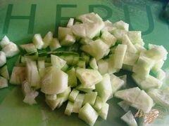 «Салат овощной с творогом» - приготовления блюда - шаг 5