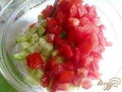 «Салат овощной с творогом» - приготовления блюда - шаг 7