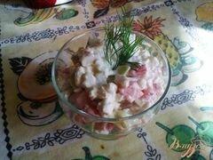 «Салат овощной с творогом» - приготовления блюда - шаг 8
