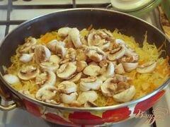 «Тушеная капуста с грибами» - приготовления блюда - шаг 4