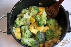 «Брокколи крем-суп с творожной горгонзолой» - приготовления блюда - шаг 4