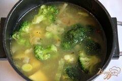 «Брокколи крем-суп с творожной горгонзолой» - приготовления блюда - шаг 5