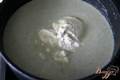 «Брокколи крем-суп с творожной горгонзолой» - приготовления блюда - шаг 9