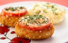 «Котлеты с сыром и помидорами» - приготовления блюда - шаг 10