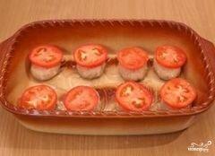 «Котлеты с сыром и помидорами» - приготовления блюда - шаг 8