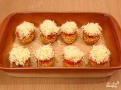 «Котлеты с сыром и помидорами» - приготовления блюда - шаг 9
