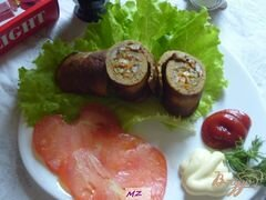 «Рулетики из печени» - приготовления блюда - шаг 12