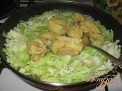 «Тушеная капуста с мясом без томата.» - приготовления блюда - шаг 4