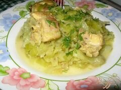 «Тушеная капуста с мясом без томата.» - приготовления блюда - шаг 5