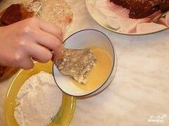 «Отбивные из печени» - приготовления блюда - шаг 5