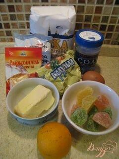«Ароматное печенье с мармеладом» - приготовления блюда - шаг 1