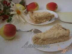 «Яблочно-творожный насыпной пирог» - приготовления блюда - шаг 3